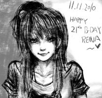 happy birthday reina smile ver by possumomo