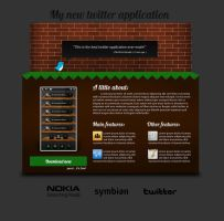 Twitter App Website Design by Real99