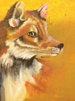 Fox - Acrylic on Canvas by A-wing-and-a-flair