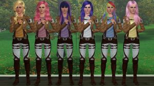 Sims 3 - AoT/ MLP Crossover by Tx-Slade-xT