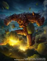Fairy Tale: Golem Earthquake by Wolfie-chama