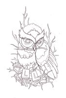 tattoo design owl by reklawpeels