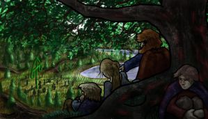 Norse Midsummer: People Watching by Callego