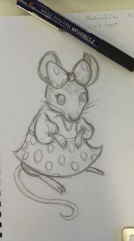 SketchDaily - Minnie Mouse by RoninKai