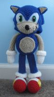 sonic the hedgehog amigurumi by TheArtisansNook