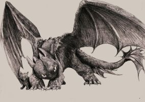 Toothless by Zombiraptor