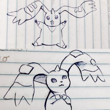 Terriermon doodle  by dididoodles