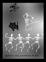 Witches, Cats and Skeletons by HauntingVisionsStock