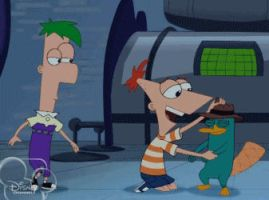 Phineas and Ferb Hug Perry (animated) by jaycasey