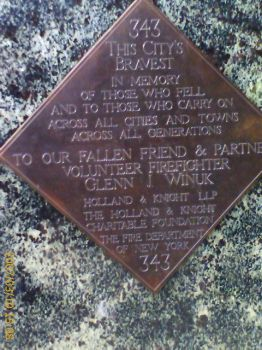 September 11th Plaque by Beomoose