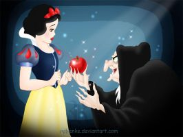 Snow White's apple by rebenke