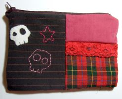 skull pencil case bag by yael360