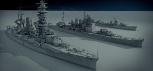 Ships japan navy fleet.Wip by Dmitriy-mir