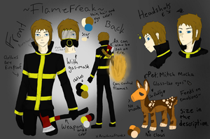 FlameFreak and Mitch Mocha Ref by xArachnoFreakx