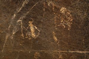 Petroglyphs #13 Man and Staff or Spear? by SharPhotography
