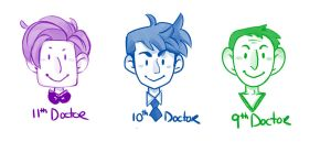 The Three Doctors by uccelli