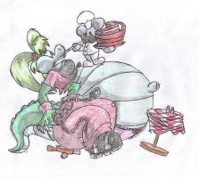 Stuffing the Gator. by Virus-20