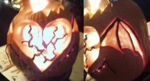 winged heart pumpkin by shadowphoenix131