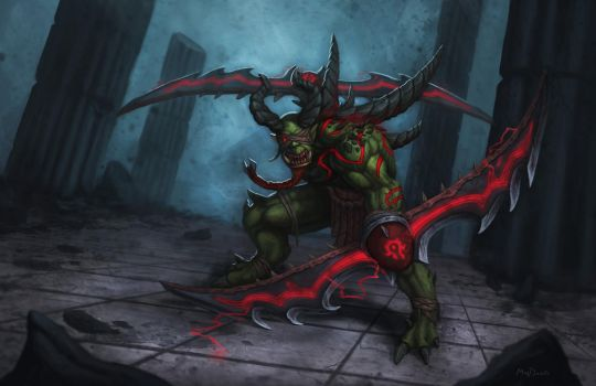 Orc demon hunter by MyDeads
