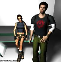 Lara and Kurtis Portrait 01 by XTombRaiderxx