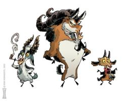 The Billy Goats Gruff by RobbVision by ShouldBee