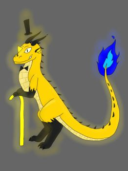 Bill Cipher Dragon by colorexplosionderp