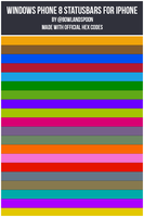 WP8 Status Bars for iPhone (OS6+) by bowlandspoon