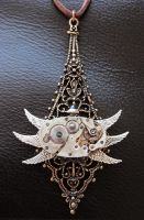 Steampunk Bug Necklace by xxPRECIOUSMOMENTSxx