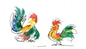 Roosters by metalparts