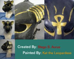 Painted Gas Mask: Bast 3 by Catwoman69y2k