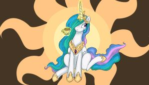 Celestia With a Smirk by Crystal-Secret