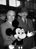 Mickey with Charlie Chaplin and Walt Disney by MarcosLucky96