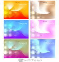 Vector Abstract Gradient Mesh Background Halftone by 123freevectors
