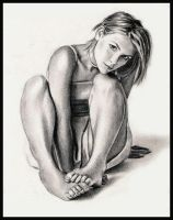 Claire Danes Sitting by MikeRobinsArt