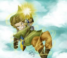 Skyward Sword Link by October-Shadows