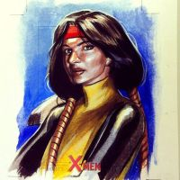 Dani Moonstar sketchcard commission by felipemassafera