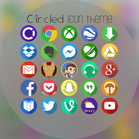 Flat Circled Icon Theme(1.2) by TheGoldenBox