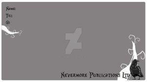 Nevermore Business Card Front by Sith4Brains