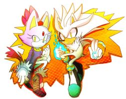 Blaze and Silver by Omiza