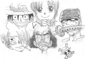 Straw Hat Pirates by Wagner1988