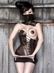 Hypsipyle Corset and Collar by AntisepticFashion