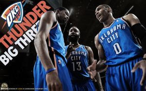 OKC Thunder Big Three. by lisong24kobe