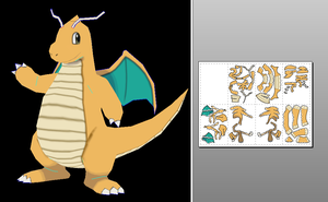 dragonite xy papercraft by javierini