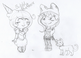 WIP: Cat and Noel, Sugar Rush Style 8D!! by Ask--Miki
