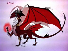Aluka, the vampire dragon by twisted-wind