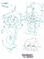 Heartbeat Bomber ~ Aika Doodles 3 by Son-Void