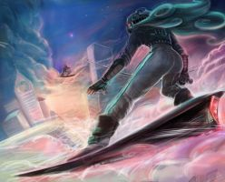 ILLUSTRATORS DEATHMATCH 2014 - Riders in the Sky by papelmarfil