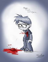Ouchy by evilchibiminion