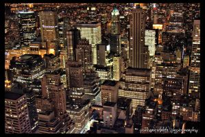 Manhattan City Lights by PortraitOfaLife