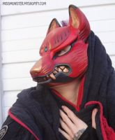 Kitsune mask painted edition 1 by missmonster